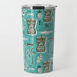 Tropical Tiki - Aqua Travel Mug