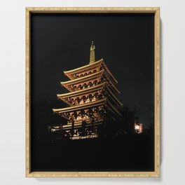 Buddhist Temple Serving Tray