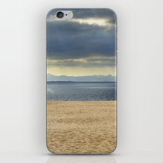 Sand dune, Meditarranean sea and African mountains. iPhone & iPod Skin