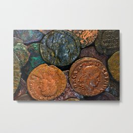 Money Coins Metal Print