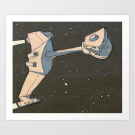 Angry Klingon Battle Cruiser Art Print