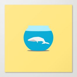 Small whale Canvas Print