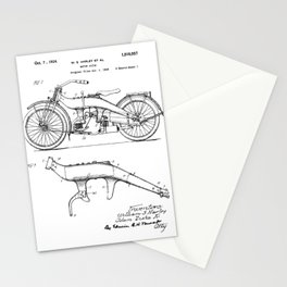 old H.D motorcycle / Motorcycle Vintage patent  Stationery Cards