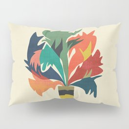Potted staghorn fern plant Pillow Sham