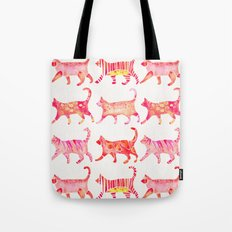 Cat Collection – Pink Palette Tote Bag