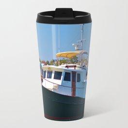 Classic Wooden Boat Travel Mug