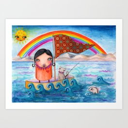 SailAway by Kylie Fowler Art Print