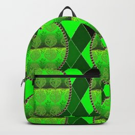Fleur De Lis Holiday FDL Green Backpack