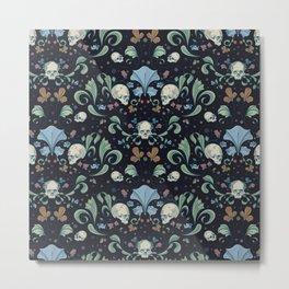 Skull Garden Metal Print