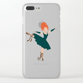 Celtic Ballerina Princess Clear iPhone Case