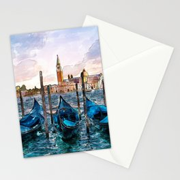 Gondolas in Venice Stationery Cards