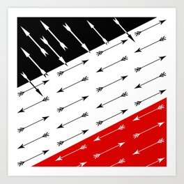 Red black , white pattern Boom 2 . Art Print