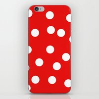 polka dot iPhone & iPod Skins featuring Polka dot by Bubblemaker