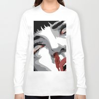 mia wallace Long Sleeve T-shirts featuring There goes mrs. Mia Wallace by The Headless Fish