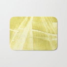 Yellow green abstract Bath Mat