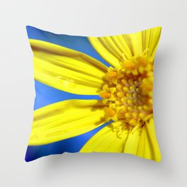 Sunflower against a Bright Blue Sky Throw Pillow