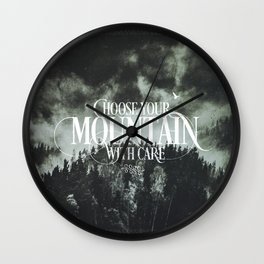 Choose wisely Wall Clock