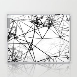 Geometric himmeli ornaments as minimal seamless pattern Laptop & iPad Skin