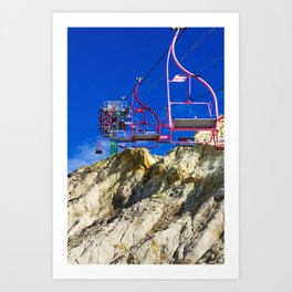 The Chairlift Express Art Print