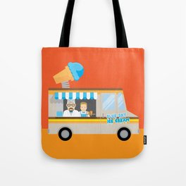 Breaking tradition - Walt and Jesse make ice cream Tote Bag