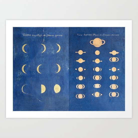 17th-Century Astronomical Art by Maria Clara Eimmart: Phases of Venus and Saturn by brainpicker