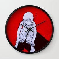 dexter Wall Clocks featuring Dexter by MRCRMB