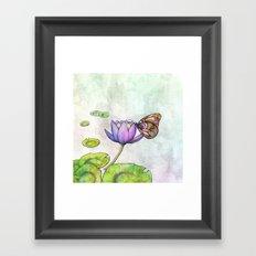 Serene Bloom Framed Art Print