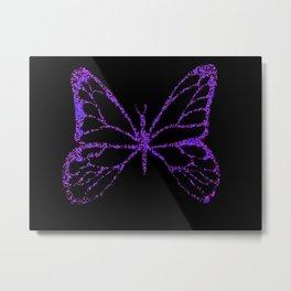 Butterfly Purple Metal Print