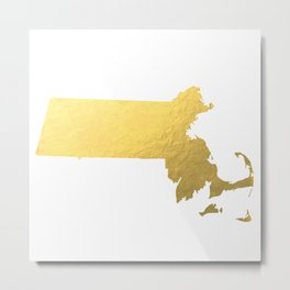 Usa Map Gold Foil Printable Art Wall Art Real Gold Foil 8x10 Canvas Usa State Map Minnesota Map Gold Metal Print