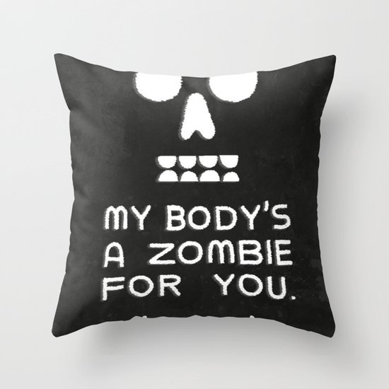 Zombie Love Throw Pillow