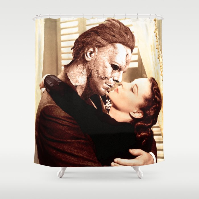 Michael Myers As Clark Gable Shower Curtain