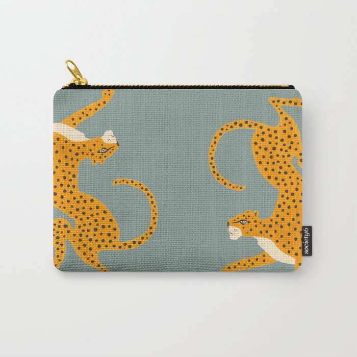 Leopard Race - blue Carry-All Pouch