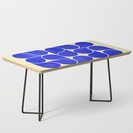 Blue mid-century shapes no8 Coffee Table