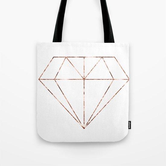 Rose gold foil diamond Tote Bag
