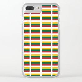 Flag of Lithuania – Lietuva,Lithuanian,Lietuvos,vilnius,kaunas,baltic,viking. Clear iPhone Case