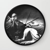 joy division Wall Clocks featuring Joy Division - Closer by NICEALB