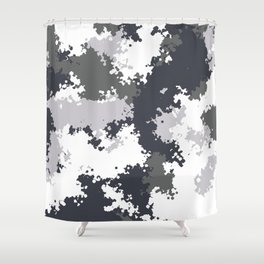 Camouflage snow 1 Shower Curtain