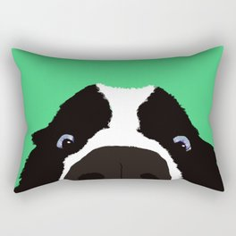 Begging Border Collie Rectangular Pillow