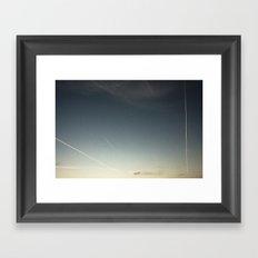 scratched sky Framed Art Print