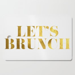 Let's Brunch in Gold Cutting Board