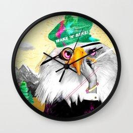 WAKE 'N' BAKE EAGLE Wall Clock