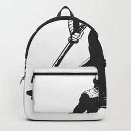 Ninja  skeleton  illustration Backpack