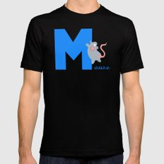 m for mouse Black MEDIUM Mens Fitted Tee