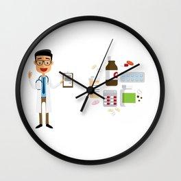Doctor Prescribing A Medicine Wall Clock