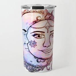 colored Sun and Moon Travel Mug
