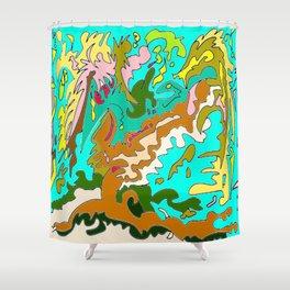 The Rizla Tree Shower Curtain
