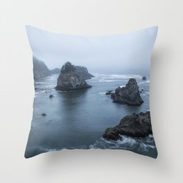 Between Dawn and Sunrise at Arch Rock Picnic Area, No. 2 Throw Pillow