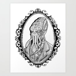 Fancy Cthulhu Art Print
