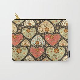 Floral hearts Carry-All Pouch
