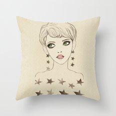 Star Girl Throw Pillow